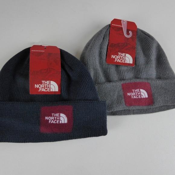 870bc87e0 The North Face TNF Felt Logo Beanie 2 Hat Set NWT NWT